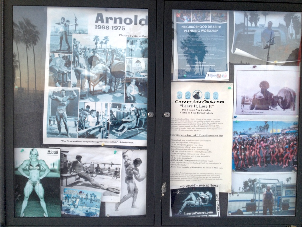 Check out the great history of Muscle Beach at: http://www.musclebeach.net/