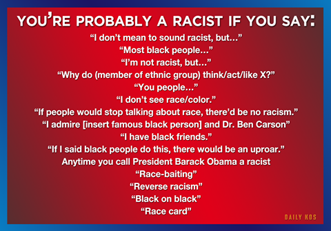 You might be racist
